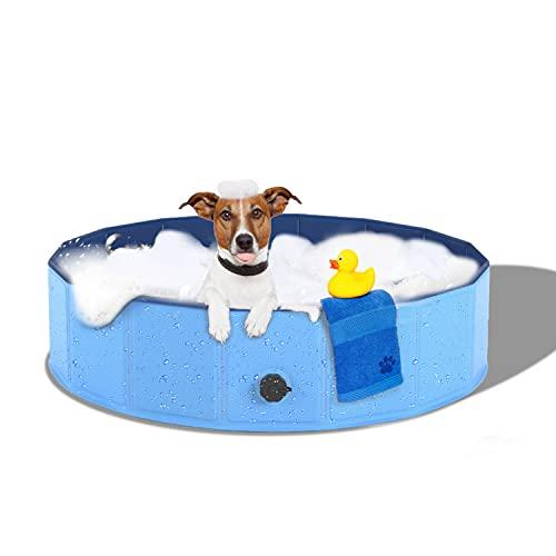 Dono Piscina Perros y Gatos Bañera Plegable, Piscina para Niños,PVC Antideslizante y Resistente al Desgaste (80 x 30 cm)