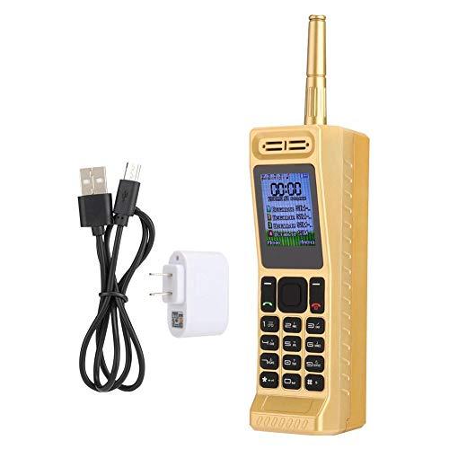 Vintage Retro Brick Cell Phone Teléfono móvil, Cuatro Tarjetas Cuatro Standby Quad-Band 2G Retro Bluetooth Nuevo clásico Viejo teléfono móvil, 2G gsm 850/900/1800/1900Mhz(Oro)
