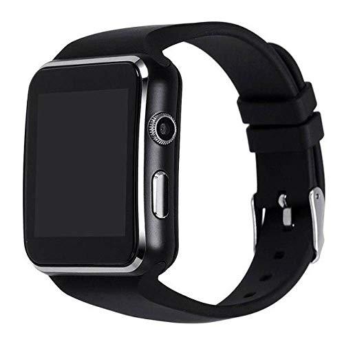 YUYLE Smartwatches Bluetooth Smart Watch Android Anti-verloren synchronisatie melding smartwatch ondersteuning SIM-TF-kaart voor Huawei Xiaomi Samsung, zwart