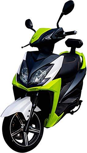Elektroroller FALCON, 3400 Watt, E-Scooter, Elektro-Roller, E-Roller mit Straßenzulassung, herausnehmbarer Lithium-Akku, 80 km Reichweite, 45 km/h, Produktvideo, Grün