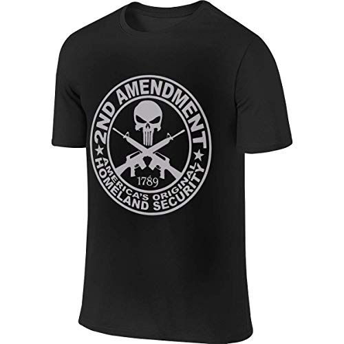 Man Personalized Casual tee Shirt Punisher 2nd Amendment Logo Tshirts Camisetas y Tops(XX-Large)