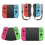 FYOUNG 5 en 1 Paquete de Conectores de Agarres para Manos para Nintendo Switch Joy con Controller con Correa, Game Handle Connector para Joy Cons Mandos