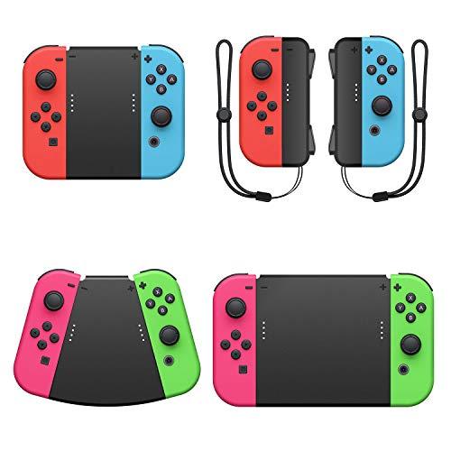 Fyoung 5 in 1 Handgriff-Anschlusspaket für Nintendo Switch Joy Con mit Controller Straps, Game Grip Connector für Joy Cons