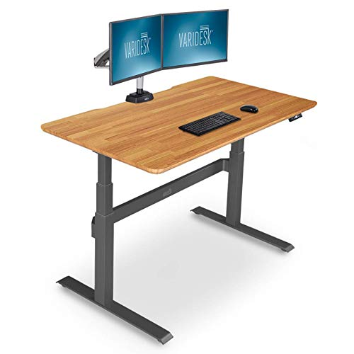 VARIDESK – Full Electric Desk – PRODESK 60 Electric Butcher Block - 3-Button Memory Settings