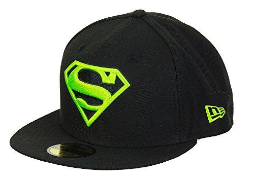 New Era DC Comics Superman 59fifty Basecap Main Black/Neongreen - 6 7/8-55cm