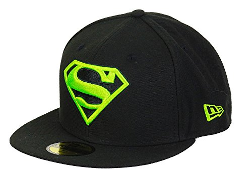 New Era DC Comics Superman 59fifty Basecap Main Black/Neongreen - 6 7/8-55cm