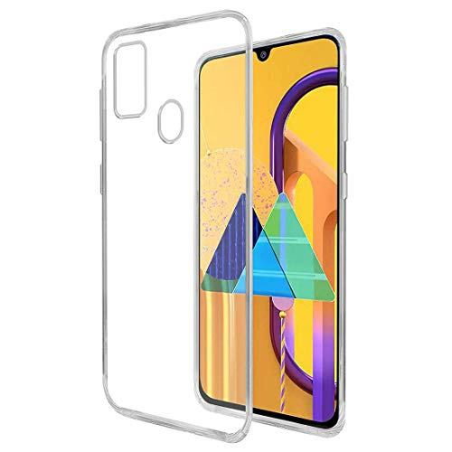 Amazon Brand – Solimo Mobile Cover for Samsung Galaxy M21 / M30s / M21 2021 Edition (Soft & Flexible Back Case), Transparent