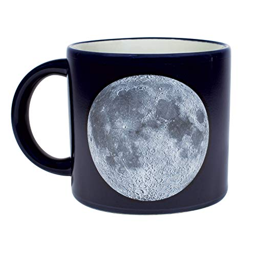 Heat Changing Moon Mug - Add Coffee or Tea and Names of Landing Sites Astronauts and More Appear - Comes in a Fun Gift Box
