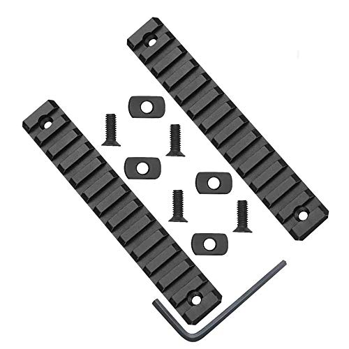 Gotical 13 Slots M-LOK Rail Section for M Lok Handguard Thirteen Slots Rail Picatinny Rail Set of 2 Pieces