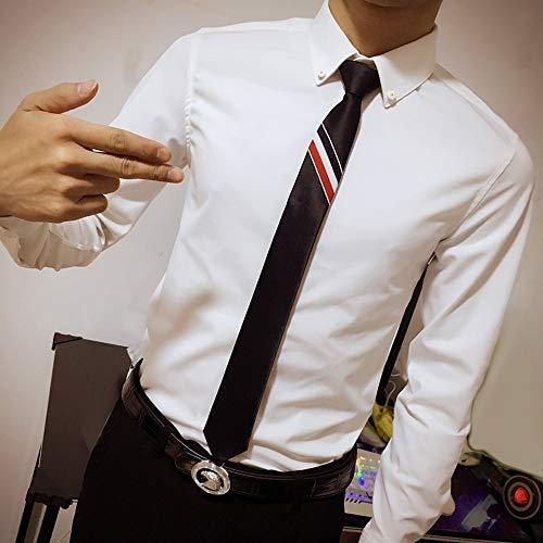 YYB-Tie Mode binden Die Bindung der Männer Geschäft verkleiden England Schmale Anzug Arbeit Bräutigam Hochzeitsanzug Schwarz Art und Weise beiläufige Krawatte / 45 * 5cm