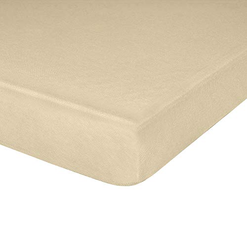IDEAhome Jersey Knit Fitted Cot Sheet, Soft Material, Suitable for Bunk Beds, Camping, RVs, Folding Beds, Boys & Girls, 75