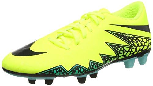 Nike Hypervenom Phade II FG, Botas de fútbol para Hombre, Amarillo (Amarillo (Volt/Black-Hyper Turq-Clr Jade), 41 EU