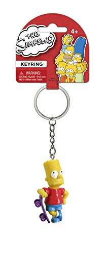 Fox The Simpsons Bart with Skateboard 3D PVC Key Ring