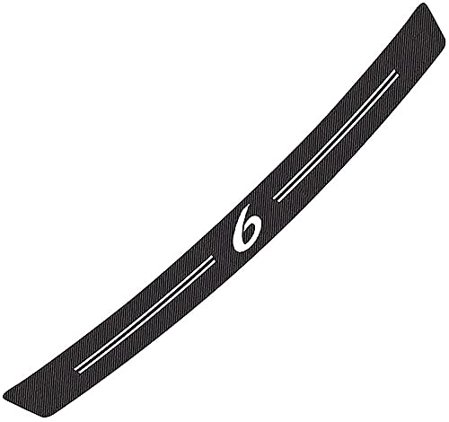 Placa de protección de parachoques trasero de fibra de carbono para automóvil, para Mazda 6, protectores de parachoques, placa de umbral de maletero, pegatina con logotipo antirrayas