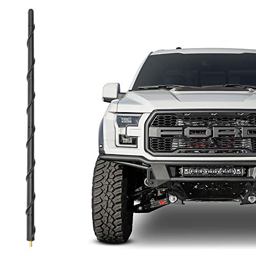 KSaAuto Antenna Fits for Ford F150 2009-2021, 16 Inch Spiral Flexible Rubber Antenna Replacement, Designed for Optimized FM/AM Radio Reception