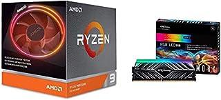 AMD Ryzen 9 3900X with Wraith Prism cooler 3.8GHz 12コア / 24スレッド 70MB 105W【国内正規代理店品】 100-100000023BOX + CFD販売 デスクトップPC用ゲーミングメモリ HX1シリーズ Intel XMP2.0 サポート PC4-28800(DDR4-3600) 8GB×2枚 無期限保証 W4U3600HX1-8G