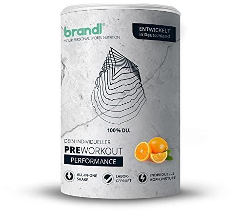 brandl® Pre-Workout Booster mit Guarana, Yerba-Mate, Taurin-Pulver, EAA Aminosäuren, Vitamin B6, Arginin & Citrullin | XXL 500g | Stufe 2
