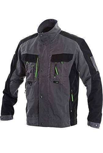 BWOLF Brave - Giacca da lavoro uomo abbigliamento lavoro uomo con tasche multiple grigio/verde. L