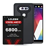 LG V20 Battery, 6800mAh High Capacity Replacement Battery for LG V20 BL-44E1F with Black TPU Case for LG H910 H918 V995 LS997 Phone | LG V20 Battery Case [18 Months Service]