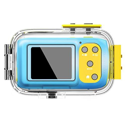 tawohi Cámara subacuática, Cámaras digitales para niños de 2.0 pulgadas, 5MP HD 1080P Cámara de alta definición, USB recargable y juguete al aire libre a prueba de agua