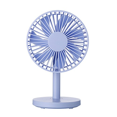 Drimran Small Desk Fan, Mini USB Powered Table Fan with Powerful 3 Speeds, 3.6 Ft USB Cable, Quiet Operation, 5 Inch Cute Desktop Personal Fan for Home Office Bedroom Study Dorm Hot Flashes (Blue)