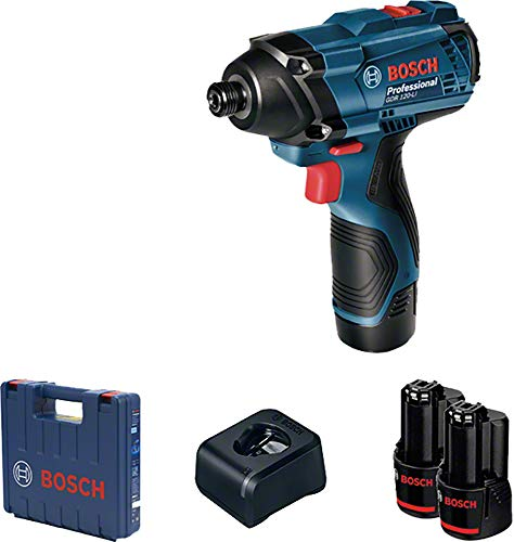 Chave de Impacto a Bateria de ¼' Bosch GDR 120-LI, 100Nm, 12V, com 2 Baterias 2,0Ah, 1 Carregador BIVOLT em Maleta