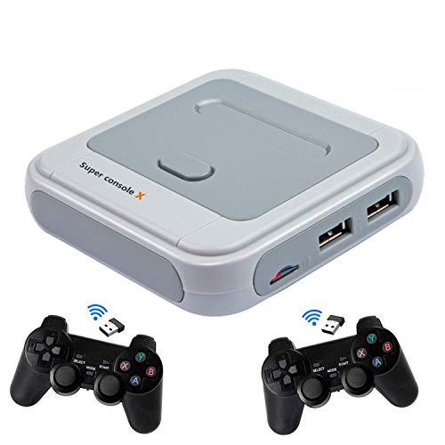 Super Console X Consola de videojuegos Consola de juegos retro con 128 tarjetas incorporadas más de 41,000 juegos, consolas de juegos clásicas para salida HDMI de TV 4K, soporte NES/N64/PS1/PSP (256G)