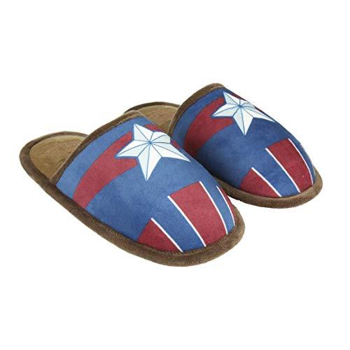 Cerdá Zapatillas De Casa Abierta Premium Avengers, Niños, Azul (Azul C03), 40 1/3 EU