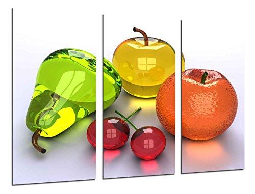 Cuadro Fotográfico Composicion Frutas Tamaño total: 97 x 62 cm XXL, Multicolor