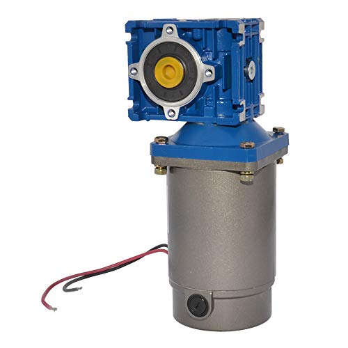 Motor de engranaje de gusano de alto torque DC 12 V, 24 V, 90 V, 120 W, motor magnético permanente con caja de cambios para abrir puertas de ventanas, 12 Volt-1:7.5, 240 rpm, 12