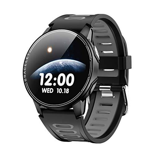 GTJXEY Inteligente Reloj Inteligente Reloj IP68 Impermeable del Deporte Hombres Mujeres Bluetooth rastreador de Ejercicios de Ritmo cardíaco,Negro