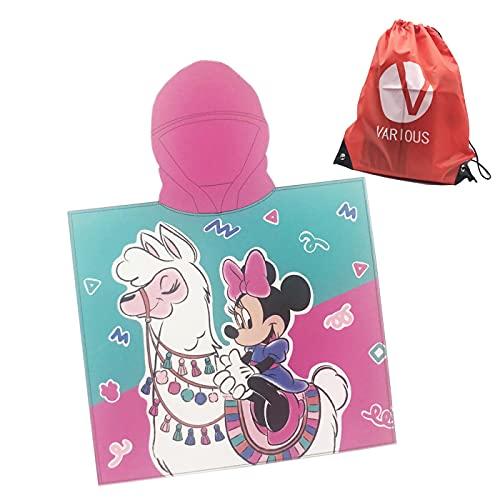 Poncho Toalla de niño Infantil de baño y Playa con Capucha Licencia Oficial Disney (8132) ⭐