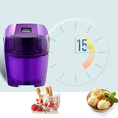 WZLJW Fabricante de Helado de máquina, púrpura eléctrico pequeño Gelato Sorbete de Yogurt Helado de máquina, Bricolaje casero for Hacer Helado Profesional, 1.5L ggsm