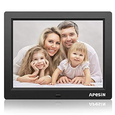 Digital Picture Frame, APESIN 8 Inch 1024x768 Pixels HD Screen(Black)