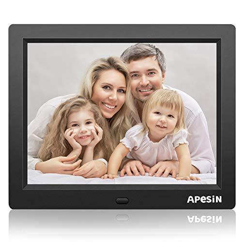 Digitaler Bilderrahmen, APESIN 8 Zoll 1024x768 Pixel HD-Bildschirm (Schwarz)