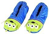 Disney Toy Story Aliens Little Green Men Character Slipper Socks with No-Slip Sole For Women Men (Large)