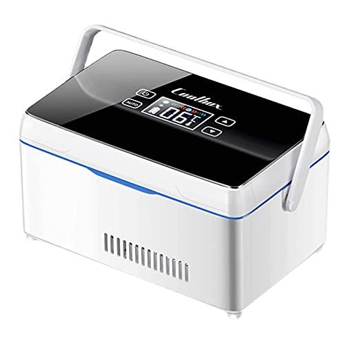 GWFVA Refrigerador Refrigerador Congelador Medicamentos Insulina Vacunas Refrigerador Pantalla LED 2-8 ℃ Refrigerador Refrigerador de medicamentos Estuche de Viaje 8-10 Horas Batería Recargable Mi