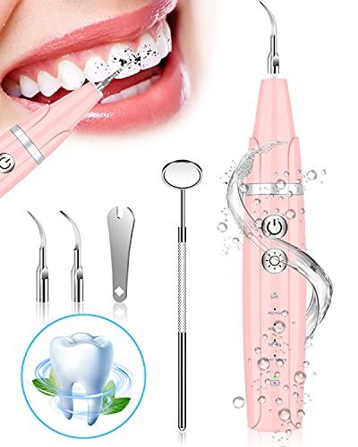 Kit de Blanqueamiento de Higiene Dental de 8 Piezas para el Cuidado Bucal y la Eliminación del Sarro[Rosa]