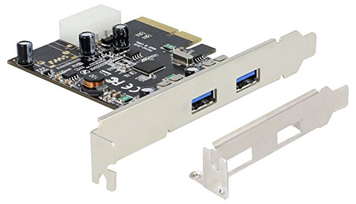 PCIe x2 SuperSpeed USB 10 Gbps (USB 3.1 Gen 2) mit 2 x Typ A Buchse inkl. Low Profile Blende ASmedia Delock