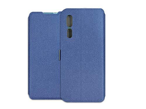 etuo Hülle für ZTE Axon 10 Pro 5G - Hülle Wallet Book - Marineblau Handyhülle Schutzhülle Etui Hülle Cover Tasche für Handy