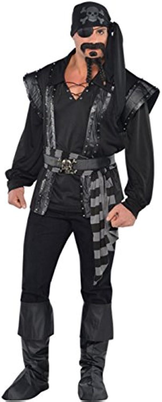 las mejores marcas venden barato Magic Box Traje Traje Traje de Pirata de mar Oscuro Negro para Hombre XL (44-46  Chest)  contador genuino