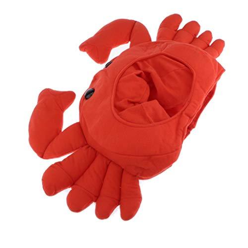 Hellery Neuheit Plüsch Krabben Hut Extraweiche Krabben Kopfbedeckung Kostüm Seafood Hut Mit Krallen