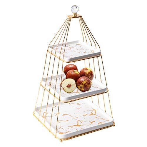BLLD Tres Capas Placa de la Fruta, Creativo Moderno de la Sala de café decoración de la Tabla, Candy Pot Matrimonio Tabla, (Surtido para Bodas y reuniones Familiares)