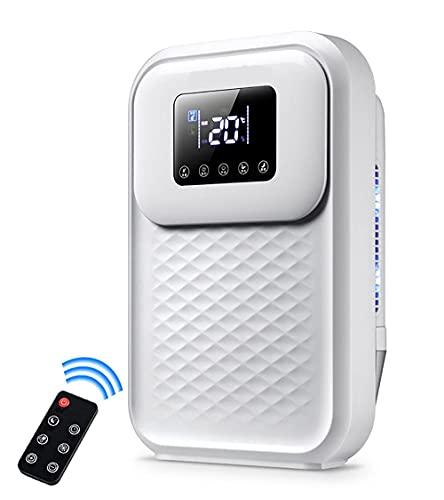 LKJHG Deumidificatori 1500ML con Display Digitale dell'umidità, modalità Sleep, drenaggio Continuo, Asciugatura della Biancheria e Timer 24 Ore - Ideale per umidità e condensa