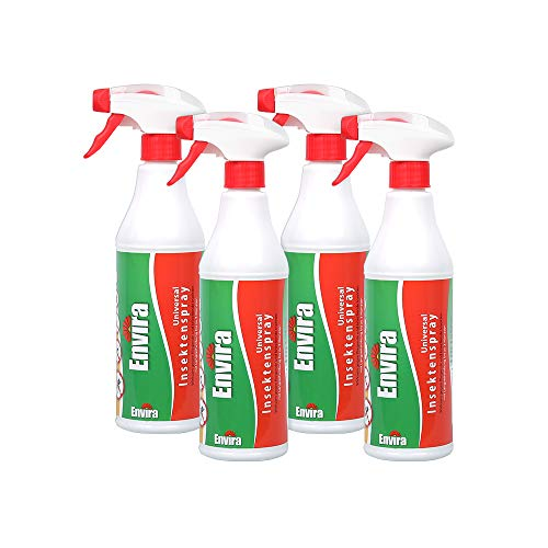 Envira Universal Insektenschutz - Hochwirksames Insekten-Spray Mit Langzeitschutz - Auf Wasserbasis - 4x500ml