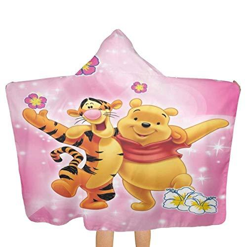 Hdadwy Winnie The Pooh Bär Tigger Kapuzen-Strandtuch mit Kapuze Strand-Badetücher...