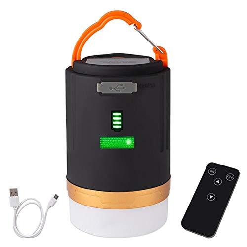 spier Linterna LED de camping USB recargable de emergencia 3 modos de luz imán lámpara colgante al aire libre tienda luz para senderismo pesca