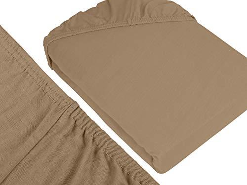 klassisches Jersey Spannbetttuch – erhältlich in 22 modernen Farben und 6 verschiedenen Größen – 100% Baumwolle… - 3