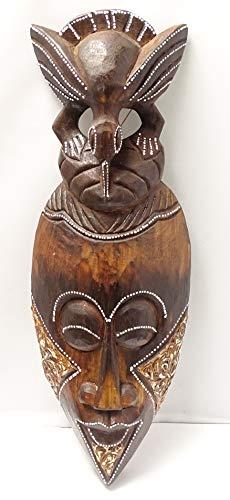 Mascara Africana Tribal Madera -31cm x 11cm -para la Pared