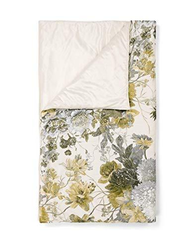 ESSENZA Quilt Maily Blumen Polyester Olive, 220x265 cm